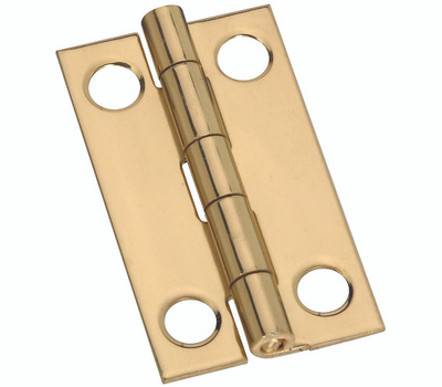 National Hardware S803-080 N211-219 Stanley 1-1/2 By 7/8 Inch Narrow Solid Bright Brass Cabinet Hinges 2 Pack