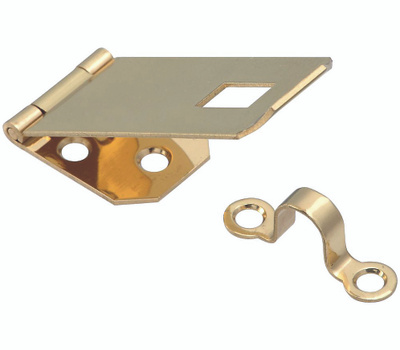 National Hardware S803-550 Stanley Ornamental Hasp 1 Inch By 2-13/16 Inch Bright Solid Brass