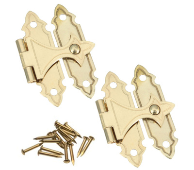 National Hardware S803-690 N211-946 Stanley Bar Catches 1 By 1-5/16 Inch Bright Solid Brass 2 Pack