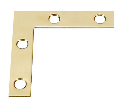National Hardware S803-830 Stanley Solid Bright Brass 2 Inch By 3/8 Inch Flat Corners 4 Pack