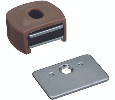 National Hardware S711-030 N710-506 Stanley Magnetic Cabinet Catch Tan Plastic