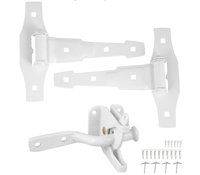 National Hardware S790-896 Stanley Decorative Gate T Hinge And Latch Set White