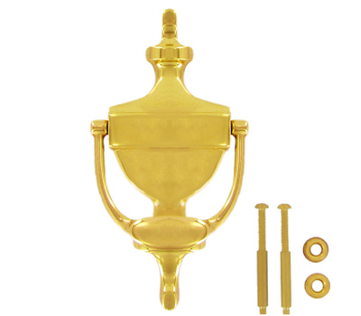 National Hardware S804-097 Stanley Classic Door Knocker 6 Inch Polished Solid Brass