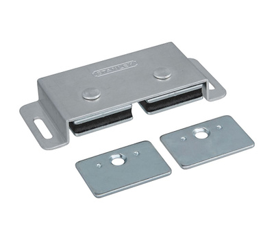 National Hardware S810-190 S805-180 N710-520 Stanley Double Magnetic Cabinet Catch Aluminum