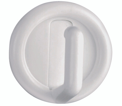 National Hardware S752-014 S819-930 N308-189 Stanley Self Adhesive Round Plastic Robe Hooks White 4 Pack