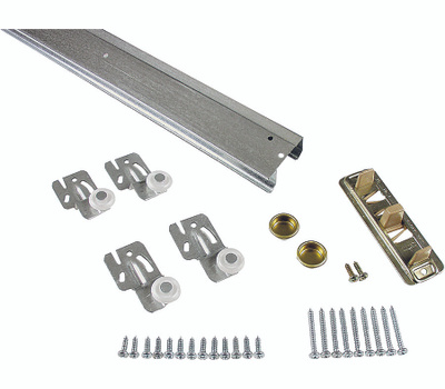 National Hardware S403-140 N343-061 Stanley By-Passing Adjustable Door Hardware Kit 48 Inch Galvanized Steel