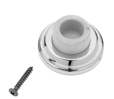 National Hardware S750-163 Stanley Concave Wall Door Stop 2-1/2 Inch Bright Nickel Chrome