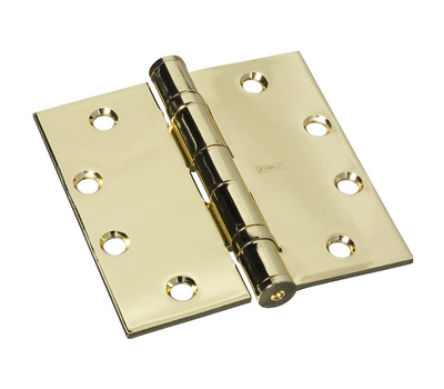 National Hardware S060-005 N236-156 Stanley Ball Bearing Commercial Door Hinge 4-1/2 Inch Bright Brass