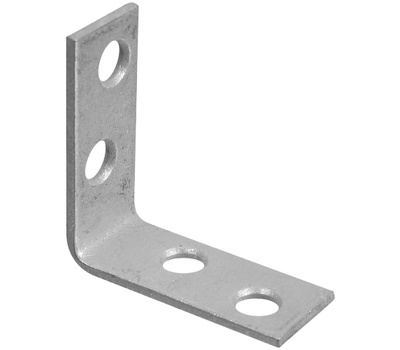 National Hardware S756-114 N236-030 Stanley Corner Braces 1-1/2 By 5/8 By 0.08 Inch Galvanized Steel 2 Pack