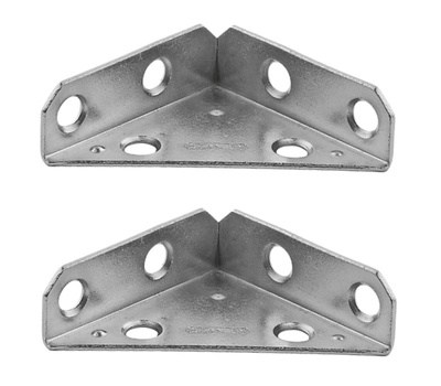 National Hardware S755-550 N337-675 Stanley Reinforced Triangle Corner Braces 2 Inch Zinc Plated Steel 2 Pack