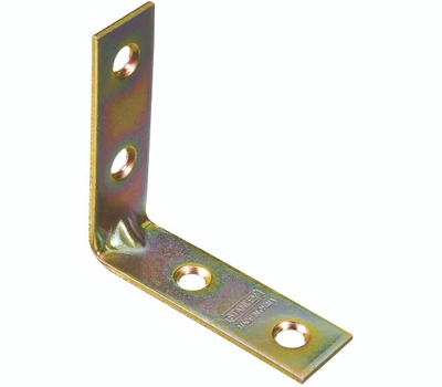 National Hardware N190-835 S802-211 Stanley Corner Braces 2 By 5/8 By 0.08 Inch Brass Finish Steel 4 Pack
