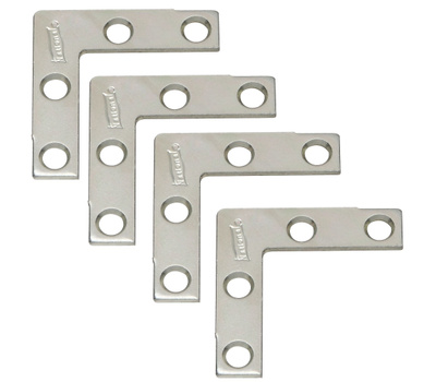 National Hardware S756-618 S839-043 N113-795 N226-670 Stanley 1-1/2 Inch Zinc Plated Steel Flat Corner Iron 4 Pack