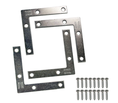 National Hardware S756-891 Stanley Flat Corner Iron Braces 3 By 1/2 By 0.07 Inch Zinc Plated Steel 4 Pack