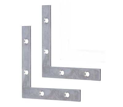 National Hardware S757-026 Stanley Flat Corner Iron Braces 5 Inch By 7/8 By 0.07 Inch Zinc Plated Steel 2 Pack