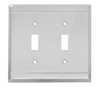 National Hardware S803-015 Stanley Franklin Double Switch Wall Plate Satin Nickel