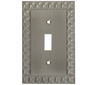 National Hardware S803-304 Stanley Pinnacle Single Switch Wall Plate Satin Nickel