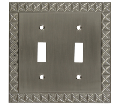 National Hardware S803-312 Stanley Pinnacle Double Switch Wall Plate Satin Nickel