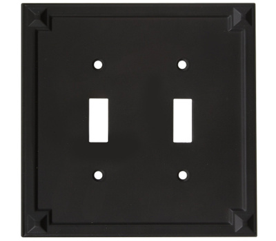 National Hardware S803-684 Stanley Prairie Double Switch Wall Plate Oil Rubbed Bronze