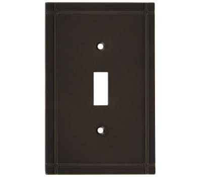 National Hardware S804-047 Stanley Ranch Single Switch Wall Plate Oil Rubbed Bronze