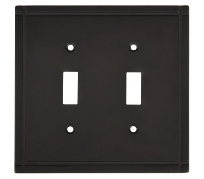 National Hardware S804-104 Stanley Ranch Double Switch Wall Plate Oil Rubbed Bronze
