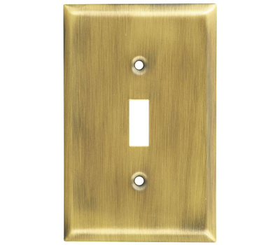 National Hardware S805-812 Stanley Basic Single Switch Wall Plate Antique Brass