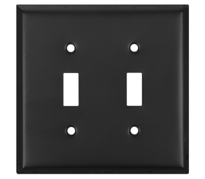 National Hardware S805-945 Stanley Basic Double Switch Wall Plate Oil Rubbed Bronze