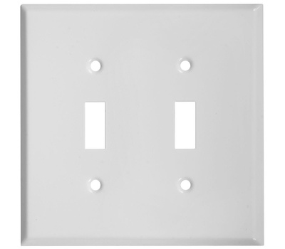 National Hardware S806-000 Stanley Basic Double Switch Wall Plate White