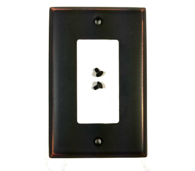 National Hardware S806-278 Stanley Basic Single Rocker Or GFI Wall Plate Bronze With Copper Highlights