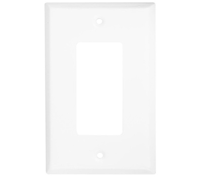 National Hardware S806-349 Stanley Basic Single Rocker Or GFI Wall Plate White
