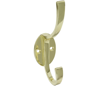 National Hardware S806-968 N806-822 Stanley Modern Coat And Hat Hook 5-1/2 Inch Brass