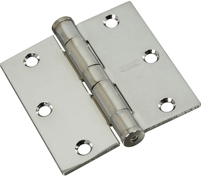 National Hardware S820-522 Stanley Commercial Door Hinges 3-1/2 Inch Square Corner Chrome 2 Pack