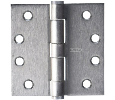 National Hardware S820-639 Stanley Commercial Door Hinges 4 Inch Square Corner Satin Chrome 3 Pack