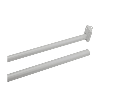 National Hardware S193-030 N236-204 Stanley Adjustable Closet Rod With Ends 30 Inch To 48 Inch Steel Painted White