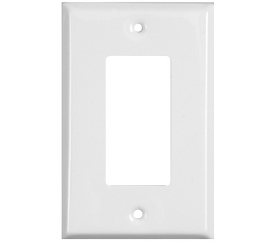 National Hardware S824-508 S824-581 Stanley Basic Single GFCI Wall Plate White Coated 4 Pack