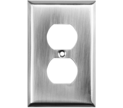 National Hardware S824-524 S824-607 Stanley Basic Single Duplex Wall Plate Satin Nickel 4 Pack