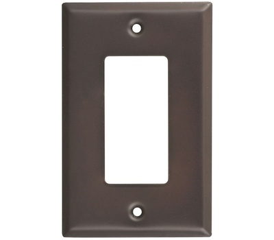 National Hardware S824-565 Stanley Basic Single GFCI Wall Plate Oil Rubbed Bronze 4 Pack