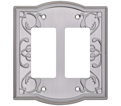 National Hardware S832-485 Stanley Victoria Double Rocker Or Gfi Wall Plate Satin Nickel