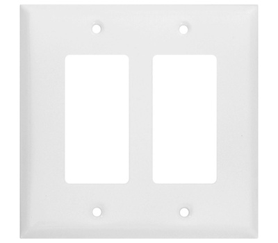 National Hardware S832-626 Stanley Basic Double Rocker Or Gfi Wall Plate White