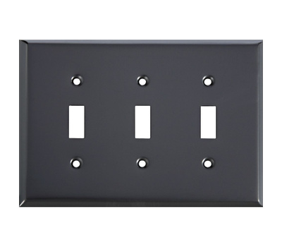 National Hardware S832-907 Stanley Basic Triple Switch Wall Plate Oil Rubbed Bronze