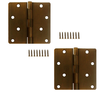 National Hardware S834-747 Stanley 4 Inch 1/4 Radius Door Hinges Bronze With Copper Highlights 2 Pack