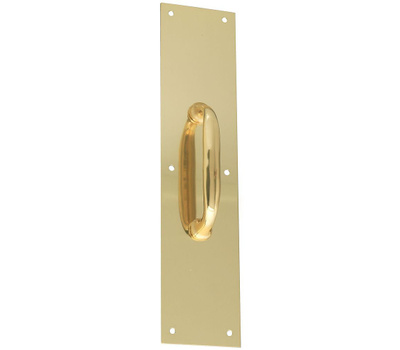 National Hardware G837-484 N207-886 Gatehouse Pull Plate Anodized Aluminum 3-1/2 By 15 Inch Brass