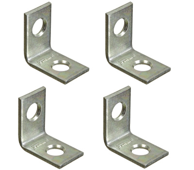 National Hardware S839-019 Stanley 3/4 By 1/2 Inch Zinc Plated Steel Corner Braces 4 Pack