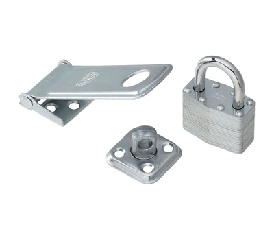 National Hardware S399-725 Stanley Padlock And Hasp Combination 4-1/2 Inch And 1-3/4 Inch Zinc Plated Steel