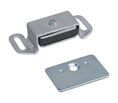 National Hardware S711-075 N710-510 N149-823 Stanley Reversible Magnetic Cabinet Catch Clear Coated Aluminum