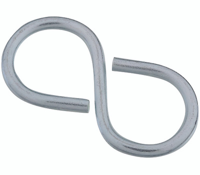 National Hardware S759-178 Stanley 2-1/8 Inch Closed S Hook Zinc Plated