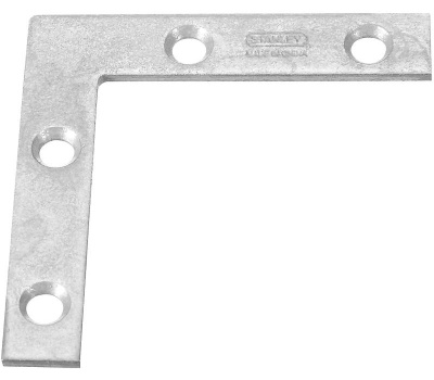 National Hardware S756-635 Stanley Flat Corner Iron Braces 2 By 3/8 By 0.07 Inch Galvanized Steel 2 Pack