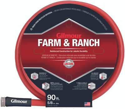 Gilmour Fiskars 829901-1001 Farm And Ranch 6 Ply Hose 5/8 Inch By 90 Foot