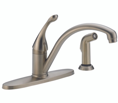 Delta Faucet 440-SS-DST Kitchen Faucet Single Spray Stainless Steel
