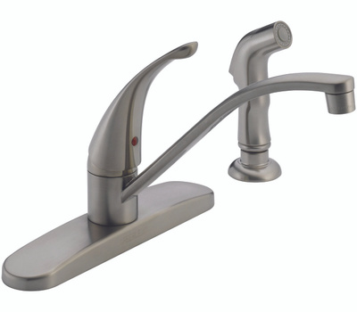 Delta Faucet P188500LF Peerless Kitchen Faucet Single Handle With Side Spray Chrome