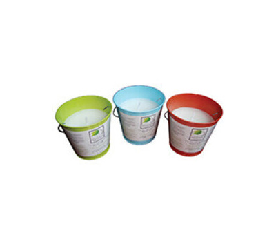 Seasonal Trends Y2564 Candle Bucket Colored 5in